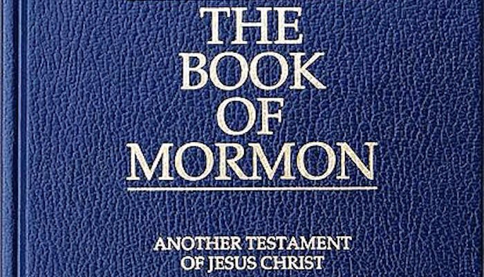 Photograph of a copy of The Book of Mormon: Another Testament of Jesus Christ - LDS