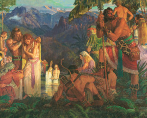 Arnold Friberg painting of Book of Mormon story