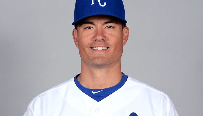 A photograph of baseball player Jeremy Guthrie, a pitcher who has played for many Major League teams.