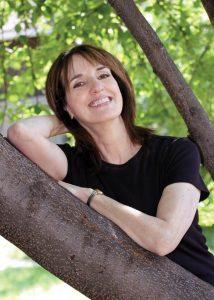 Martine Leavitt in a tree