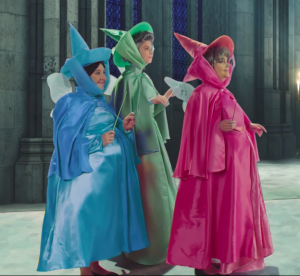The three fairies from the Fairy Godmother Gifts video by Studio C