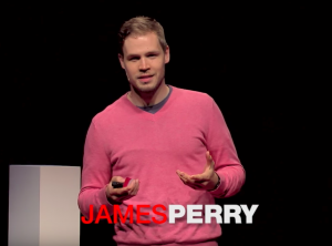 James Perry giving a Ted Talk at BYU