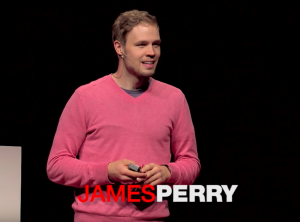 James Perry giving Tedx Talk at BYU