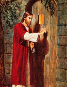 Jesus will always knock - not rap- on your door. You have to open.