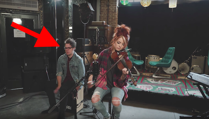 "Lindsey Stirling Covers ""Boulevard of Broken Dreams"" by Green Day … and her Drummer Keeps Making Faces"