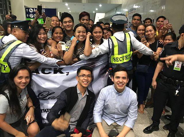 david archuleta arrives airport manila philippines
