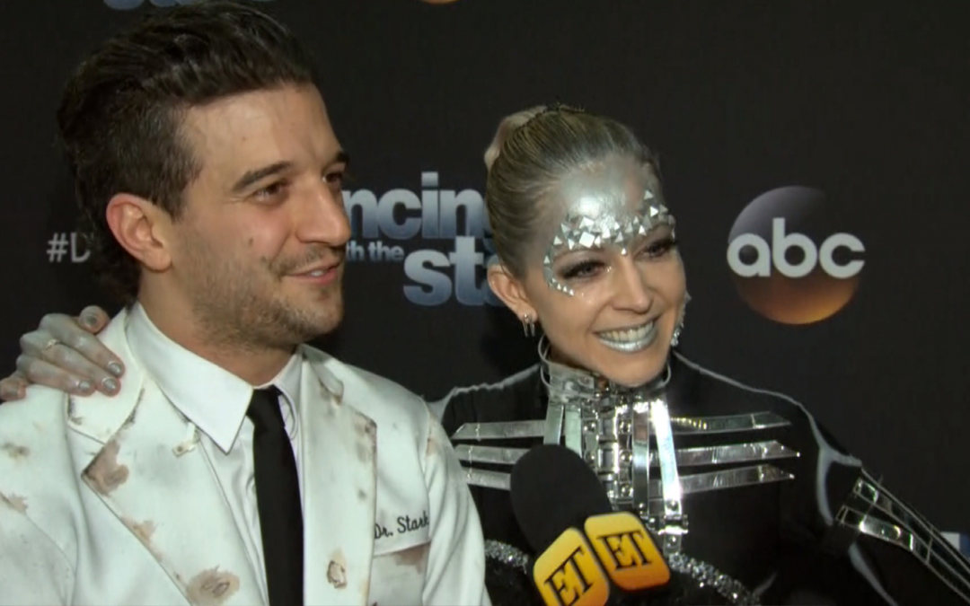 Lindsey Stirling and Mark Ballas Score 40/40 On DWTS
