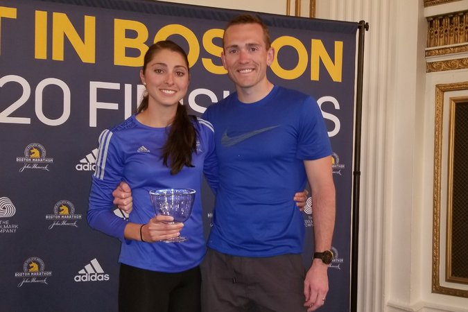 Sarah and Blake Sellers - Boston Marathon