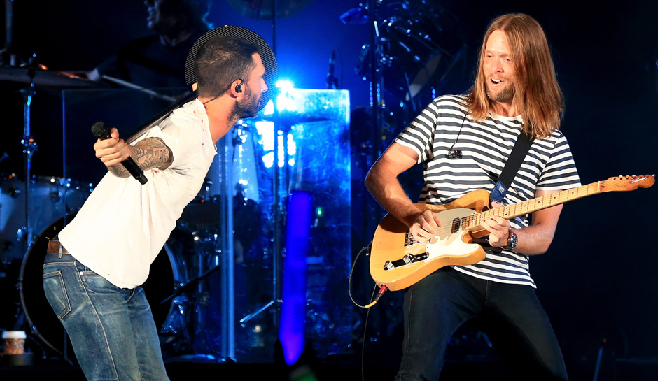 James Valentine with Adam Levine