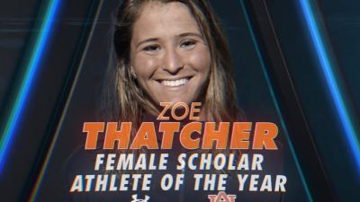 Zoe Thatcher - Auburn University's Female Scholar Athlete of the Year