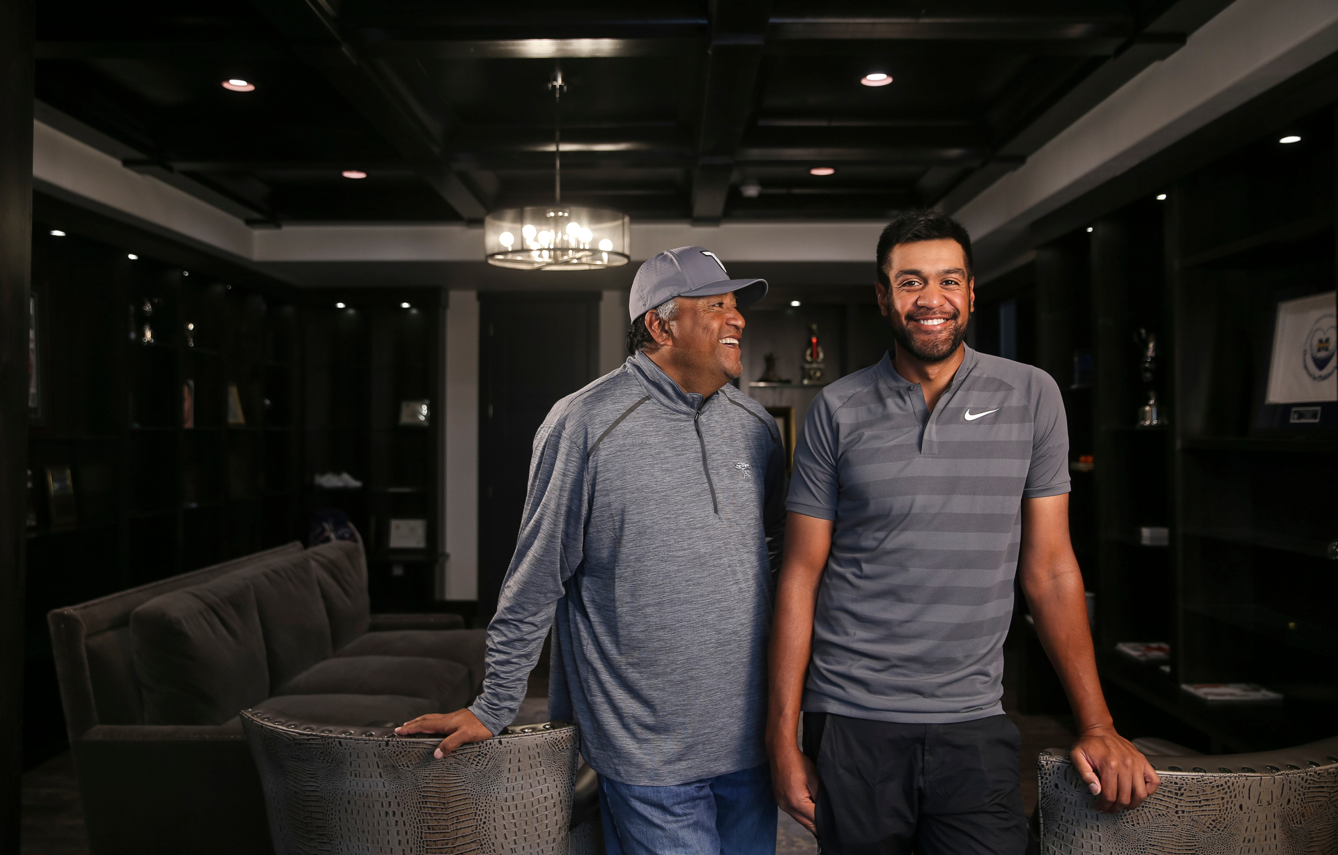 Tony Finau and Dad