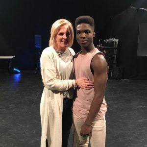 Jaxon Willard and his mom
