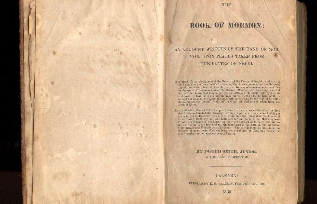 2 March 1830 - Book of Mormon