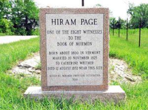 Hiram Page - Grave
