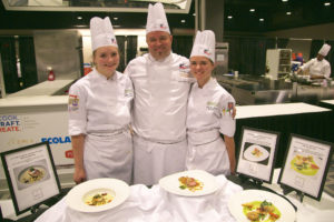 Chef Todd Leonard and his apprentices