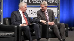 Bob Woodward and Elder D. Todd Christofferson