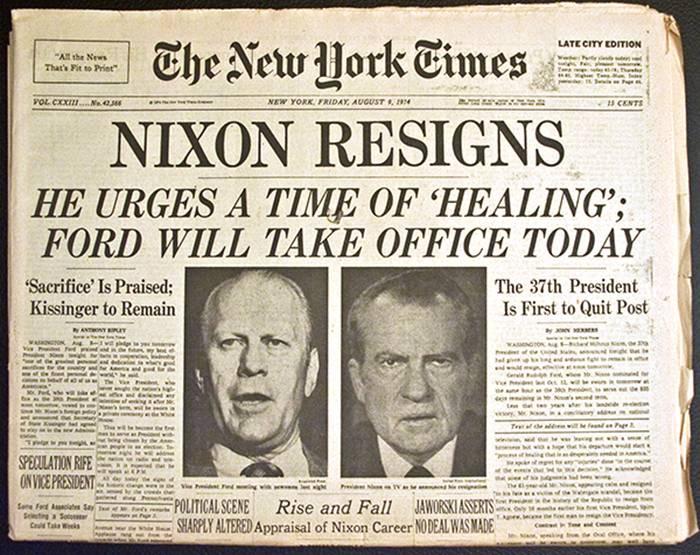 Nixon Resigns - Watergate Scandal
