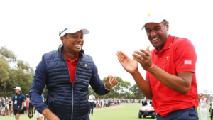 Tiger Woods and Tony Finau