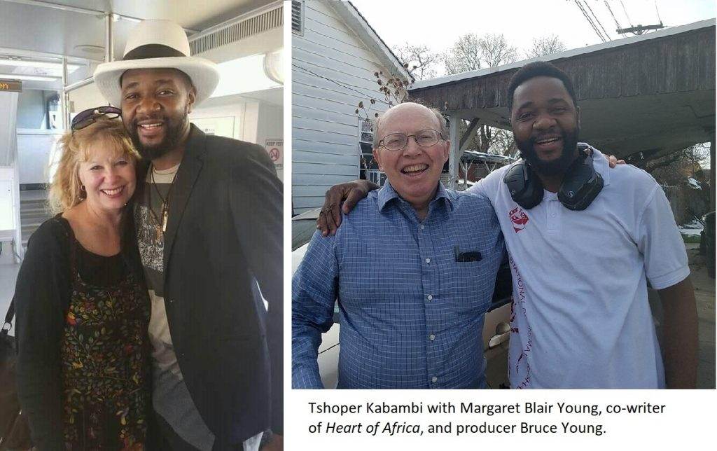 Tshoper Kabambi with Margaret Blair Young and Bruce Young