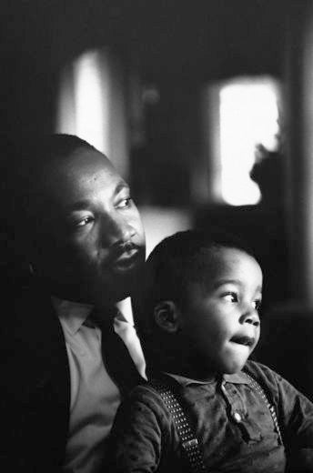 Martin Luther King Jr. and son Dextor